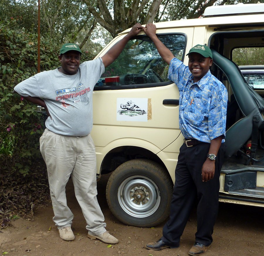 Picture of David and Muthoga by van